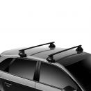 багажник на гладкую крышу Thule Evo Clamp 7105 с стальными поперечинами Thule SquareBar