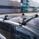 багажник на гладкую крышу Thule Edge Clamp 7205 с аэродинамическими поперечинами Thule WingBar Evo