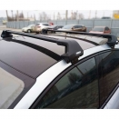 багажник на гладкую крышу Thule Edge Clamp 7205 с аэродинамическими поперечинами Thule WingBar Evo Black черный