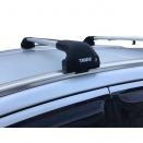 Багажник на интегрированные рейлинги Thule Edge Flush Rail 7206 с аэродинамическими поперечинами Thule WingBar Evo
