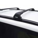 Багажник на интегрированные рейлинги Thule Edge Flush Rail 7206 с аэродинамическими поперечинами Thule WingBar Evo Black черный