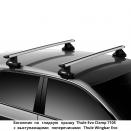 Багажник на гладкую крышу Thule Evo Clamp 7105 с аэродинамическими поперечинами Thule WingBar Evo