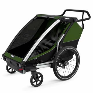 Детская коляска прицеп Thule Chariot Cab 2 Cypress Green