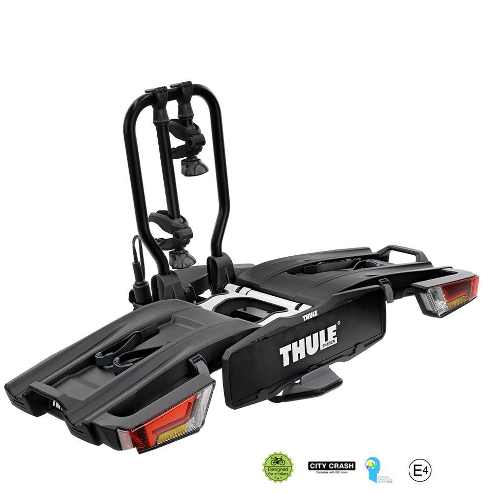 Складное велокрепление на 2 велосипеда на фаркоп Thule EasyFold XT 933 Black черный матовый