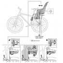 детское велокресло заднее Thule RideAlong Lite Dark Grey